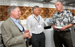 CRF directors past and present: Bob Carling (2008–13), Bob Hwang (current), and Bill McLean (1993–2005). (Photos by Dino Vournas)
