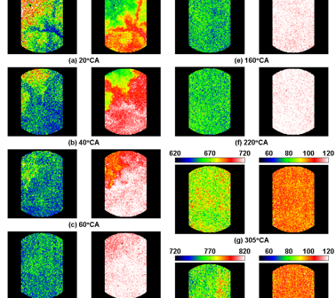 Measurements of Thermal Stratification in an HCCI Engine