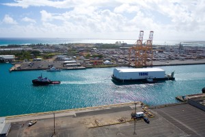 A new fuel cell demonstration project led by Sandia will feature a portable, self-contained hydrogen fuel cell unit currently in the design phase. Once completed, it will be deployed to the Port of Honolulu by Young Brothers, Ltd., one of the project partners and a primary shipper of goods throughout the Hawaiian Islands. (Photo courtesy of Young Brothers, Ltd.)