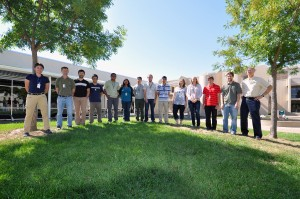 Shown here are the undergraduate WDTS interns with CRF staff. From left to right: Kathryn Dahlgren, Chuck Mueller, Leonid Sheps, Terry Peng, Raj Kumar, Samira Iqbal, Eduardo Valle, Alexander Delzell, Emmanuel Valenton, Brittany Hagler, Ashley Scully, Christopher Nilsen, Ethan Hecht, and Christopher Shaddix.