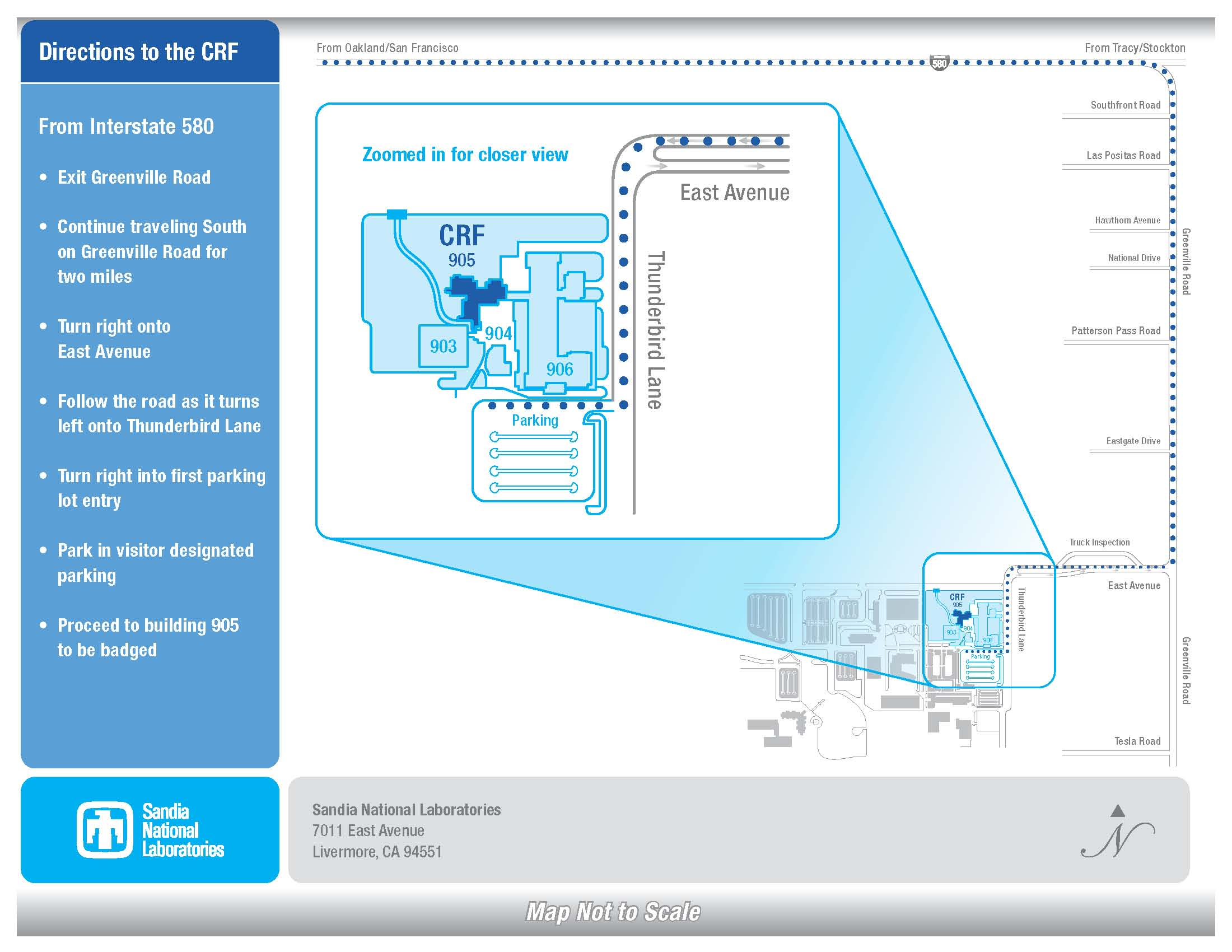 CRF Access/Driving Directions | Combustion Research Facility