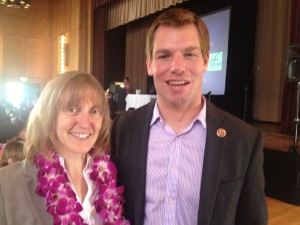 Shown here with Congressman Eric Swalwell (CA-15th)
